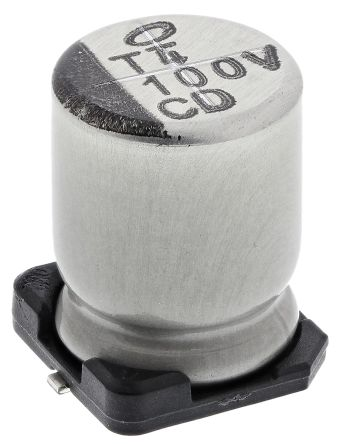 Nichicon 100μF Electrolytic Capacitor 35V dc, Surface Mount - UCD1V101MNL1GS (10)