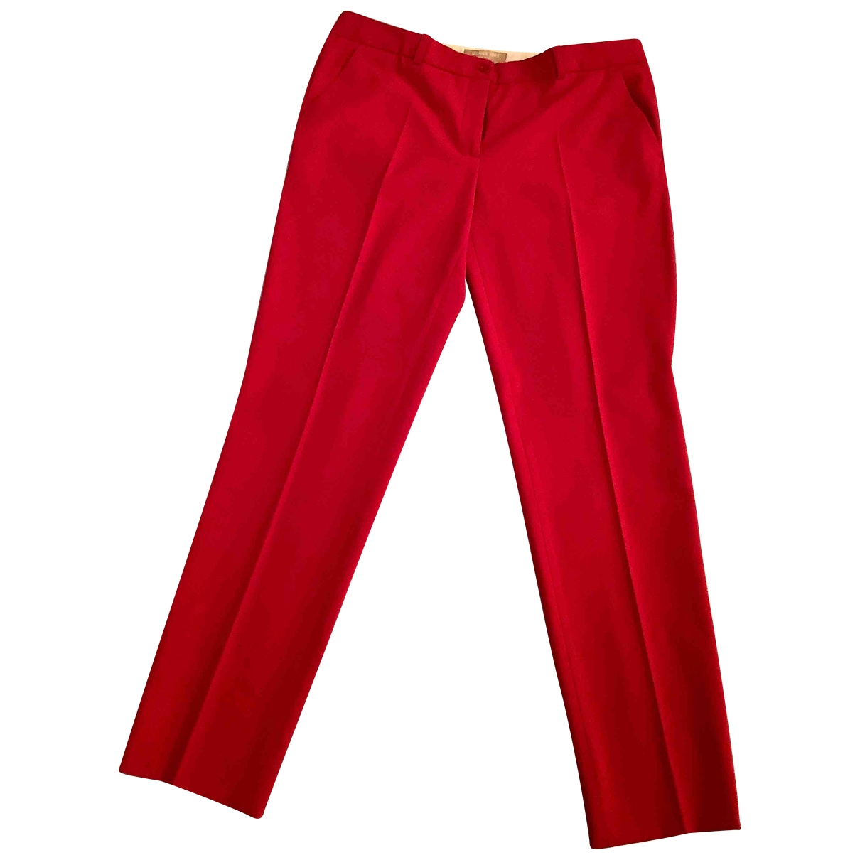 Michael Kors \N Red Wool Trousers for Women 10 US