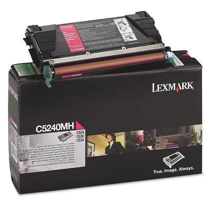Lexmark C5240MH cartouche de toner du programme retour originale magenta haute capacité