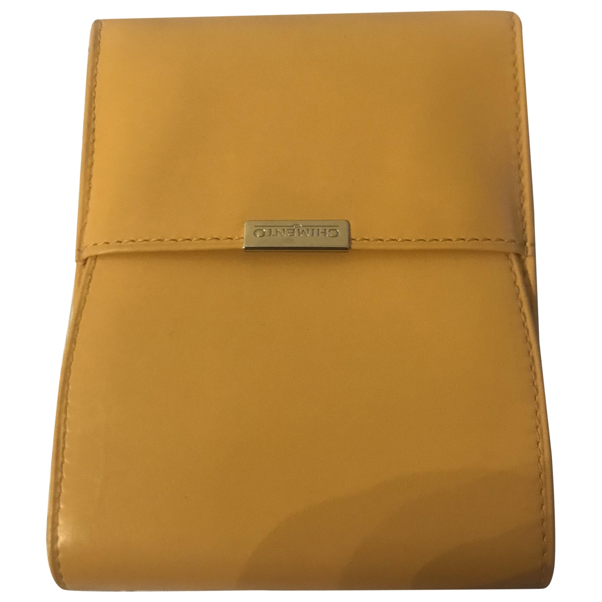 Chimento \N Yellow Leather Small bag, wallet & cases for Men \N