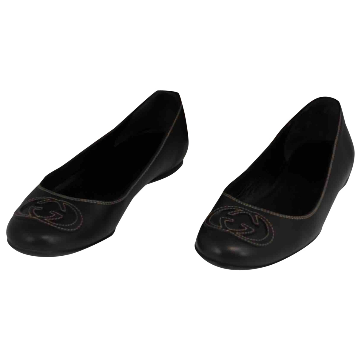 Gucci \N Navy Leather Ballet flats for Women 36.5 EU