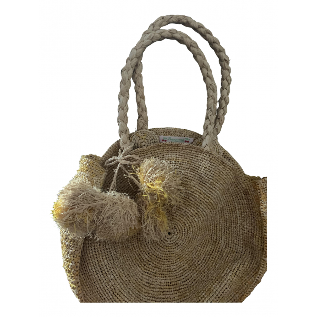 Bonpoint \N Yellow Wicker bag & Pencil cases for Kids \N