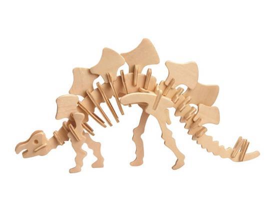 DIY 3D Wooden Puzzle Mini Stegosaurus Model Safe Friendly-environmental Simulation Intelligence Toys For Kids Children