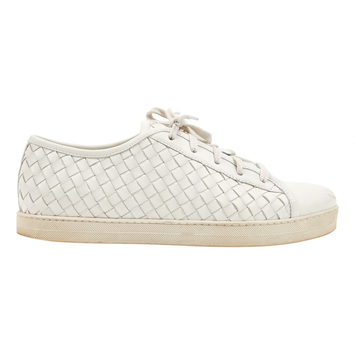 Bottega Veneta \N White Leather Trainers for Women 38.5 EU