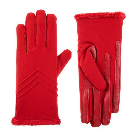 Isotoner Cold Weather Gloves with SmartDRI, Large-x-large , Red