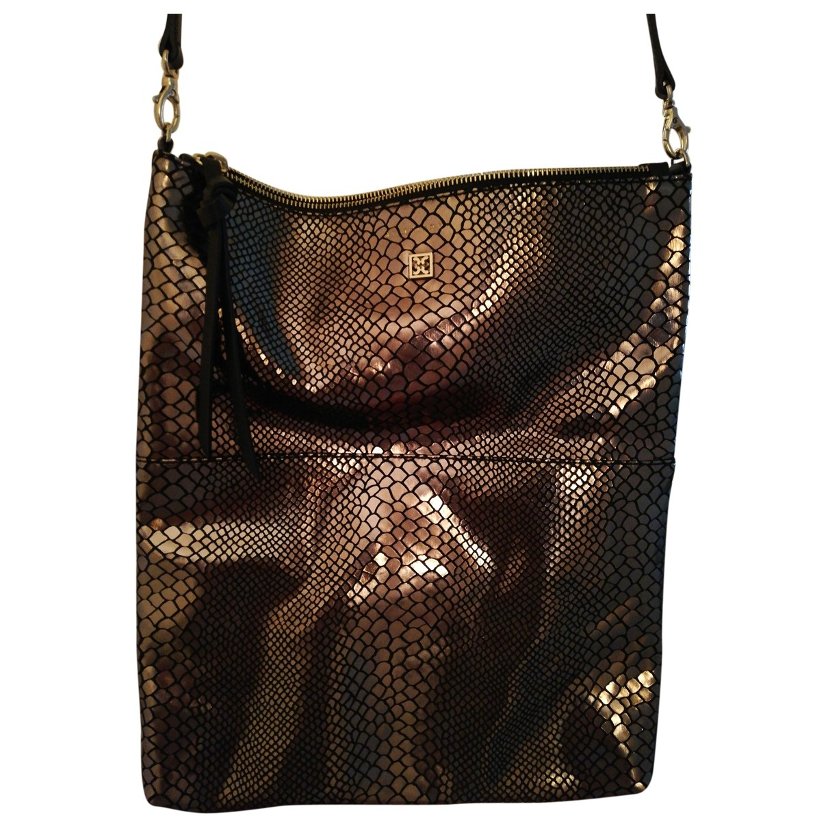 Coccinelle \N Gold Leather handbag for Women \N