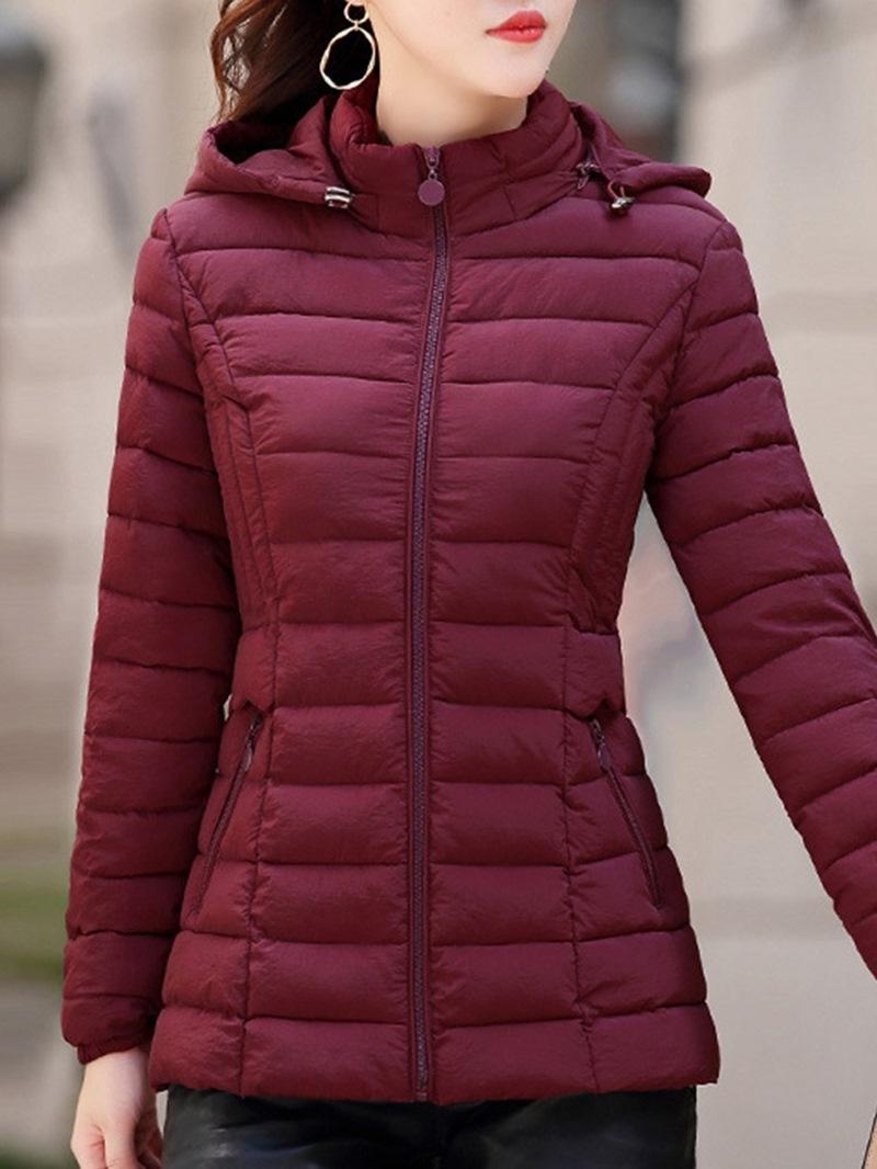 Ericdress Plain Casual Zipper Mid-Length Long Sleeves Coats