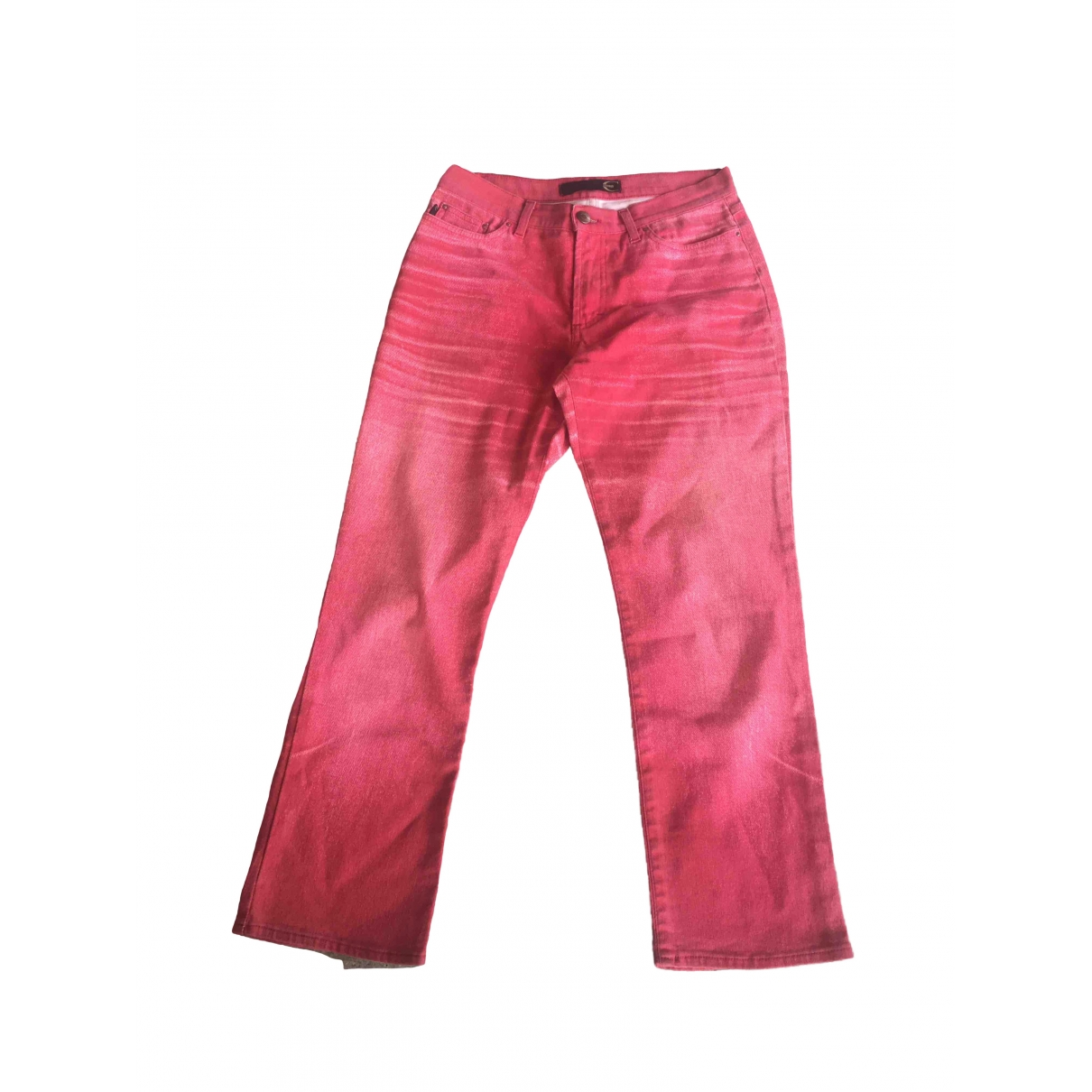 Just Cavalli \N Red Cotton Trousers for Women 42 IT