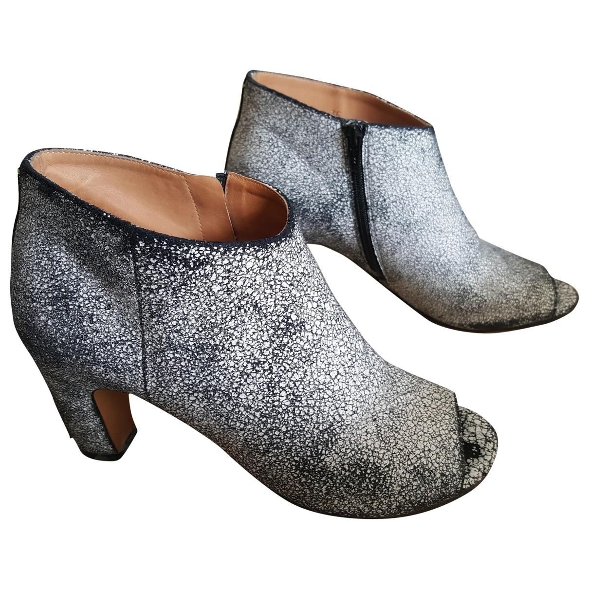 Maison Martin Margiela \N Grey Suede Ankle boots for Women 35 EU