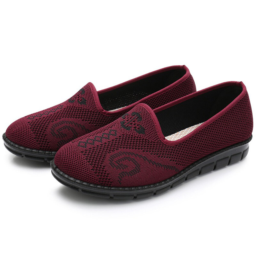 Breathable Mesh Soft Sole Casual Flat Shoes