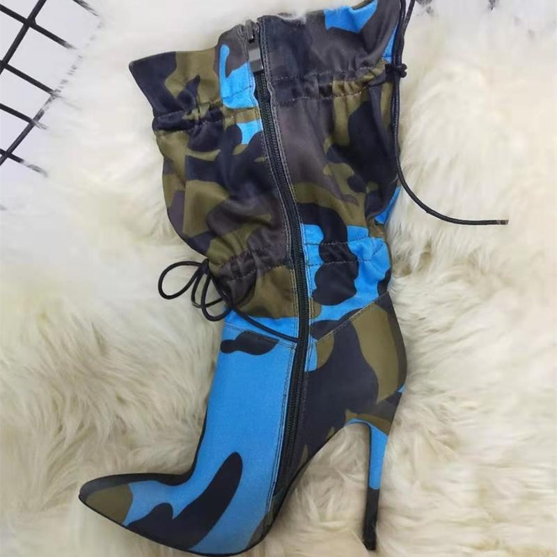 Ericdress Elastic Stiletto Heel Color Block Women's Ankle Boots