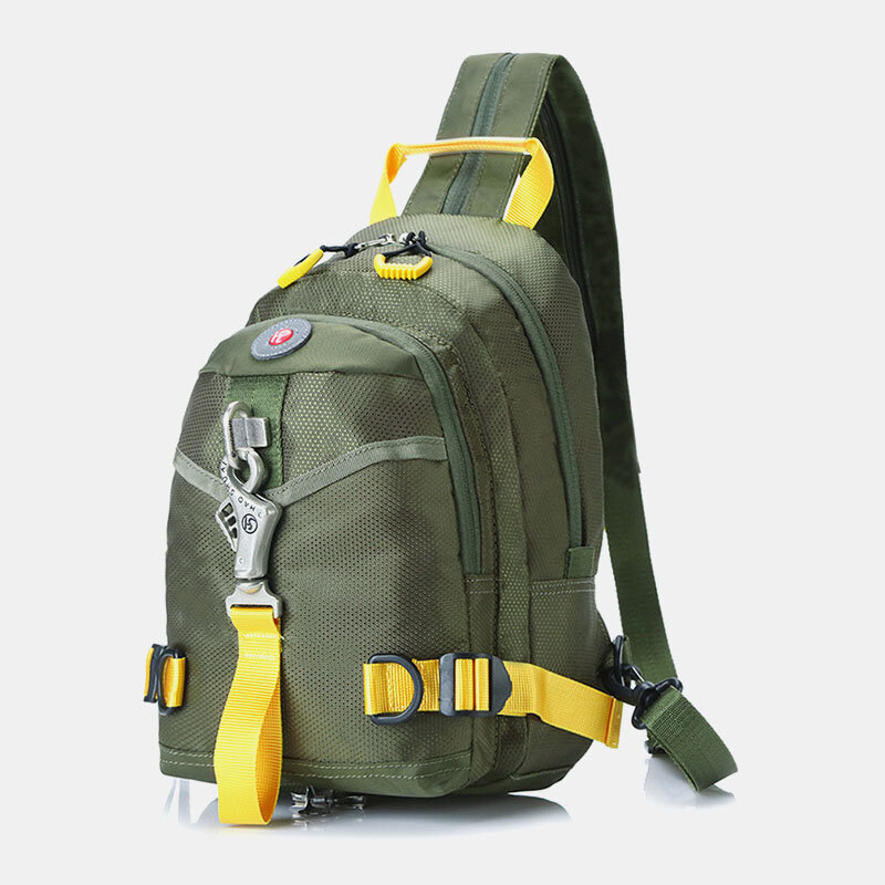 Men Waterproof Multi-Carry Outdoor Multifunctional Tactical Chest Bag Crossbody Bag Backpack