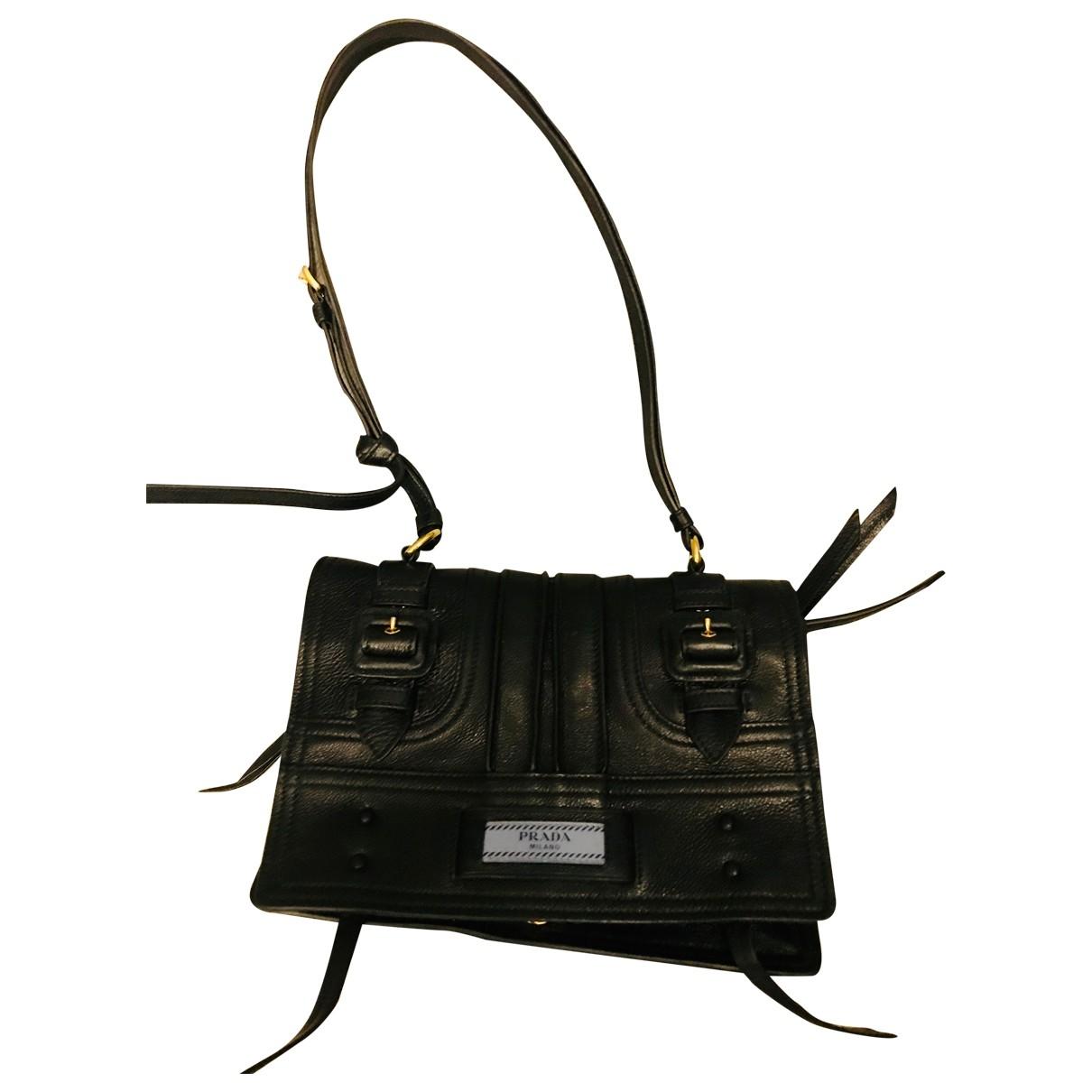 Prada Etiquette Black Leather Clutch bag for Women \N