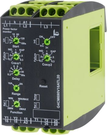Tele Power, Temperature Monitoring Relay With DPDT Contacts, 12 → 500 V ac Supply Voltage, 1, 3 Phase