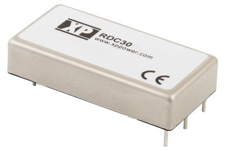 XP Power RDC 30W Isolated DC-DC Converter Through Hole, Voltage in 55 → 176 V dc, Voltage out 12V dc Railway