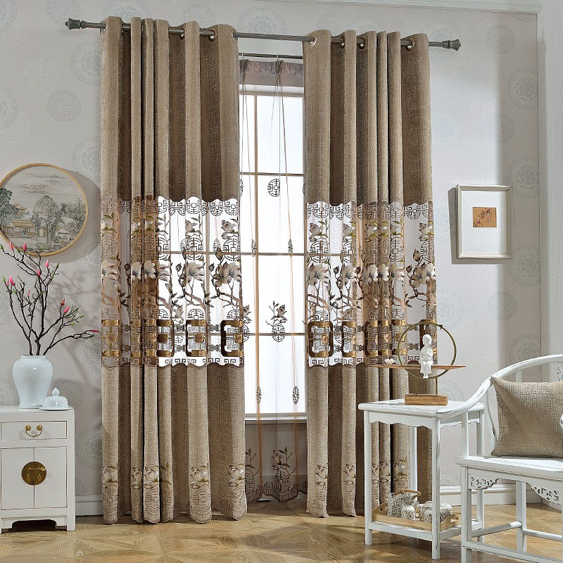 Elegant Ventilate Breathable Custom Living Room Sheer Curtains No Pilling No Fading No off-lining