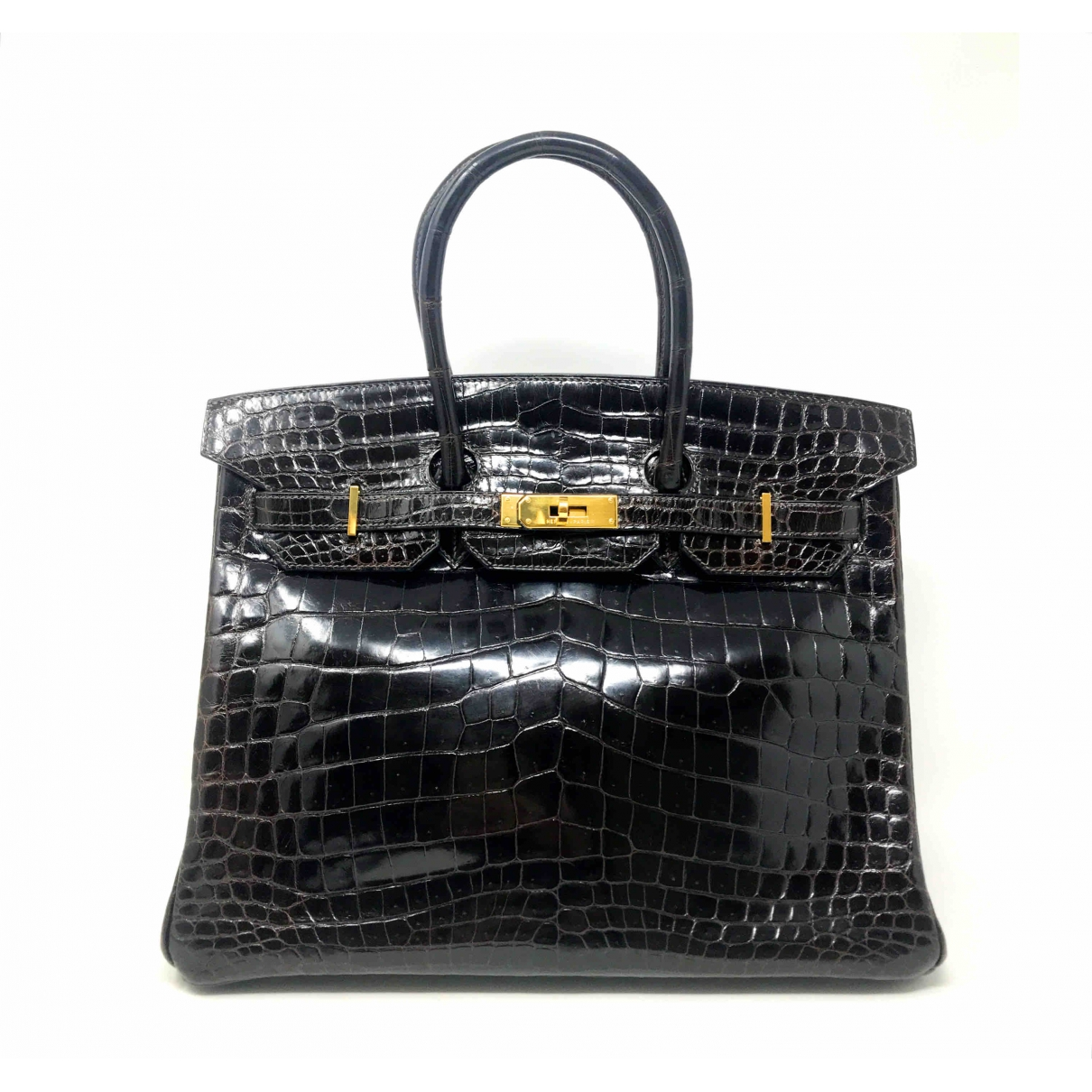 Hermès Birkin 35 Brown Crocodile handbag for Women \N