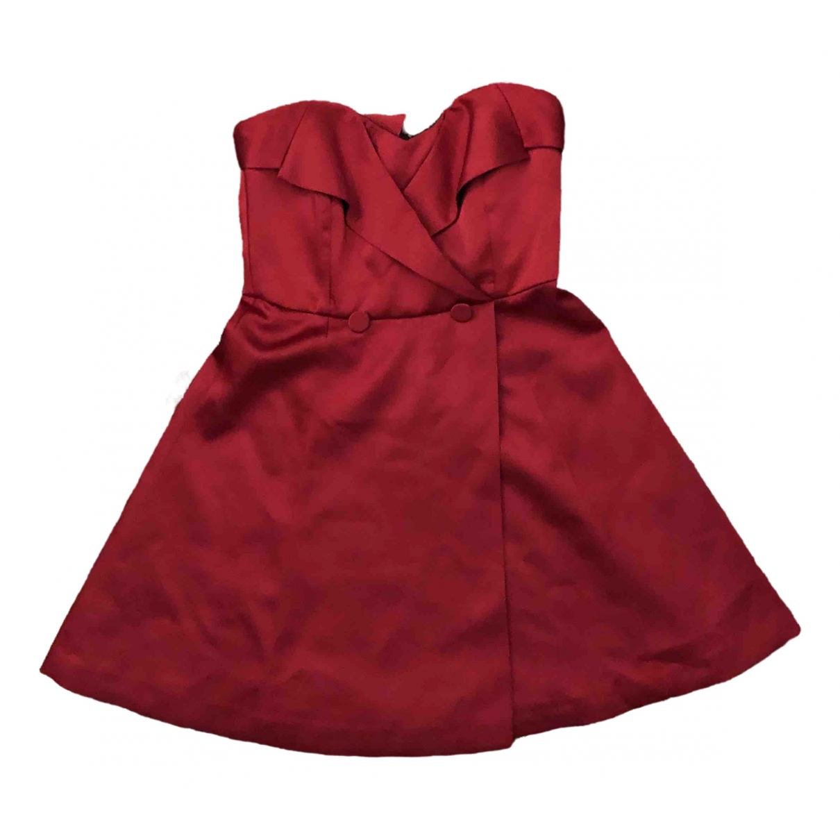 Zara \N Red Silk dress for Women 38 FR
