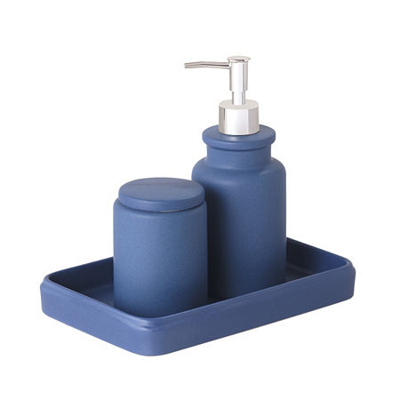 Taylor 3 Pc. Bath Accessory Set, One Size , Blue
