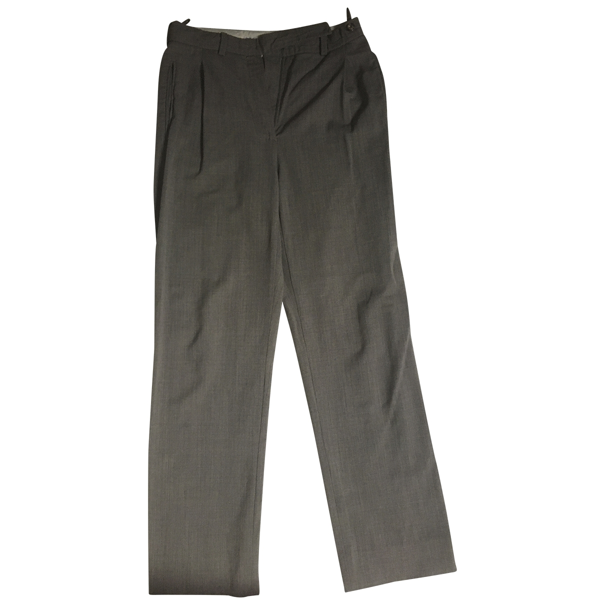 Celine \N Grey Wool Trousers for Women 38 FR