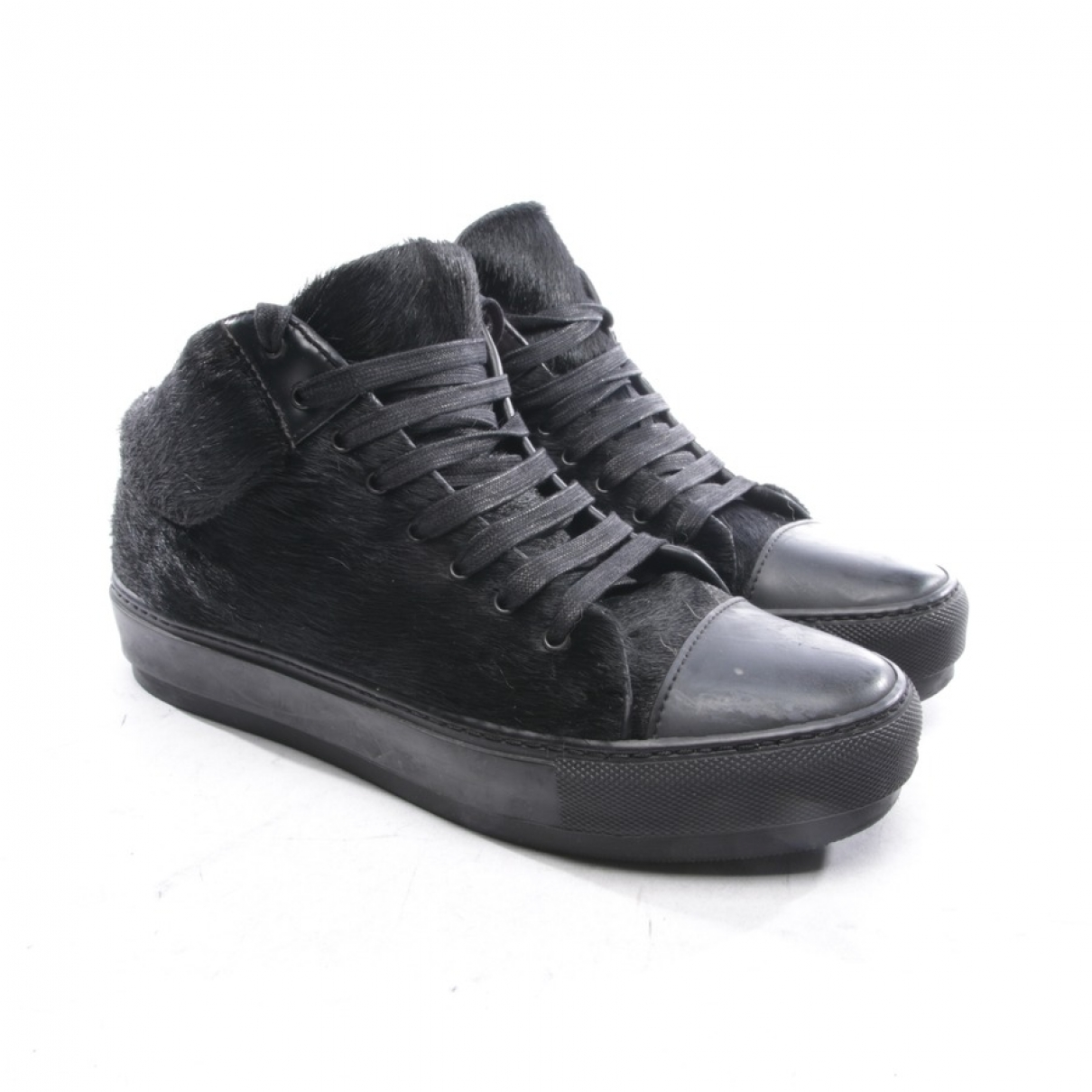 Acne Studios \N Black Pony-style calfskin Trainers for Women 37 EU