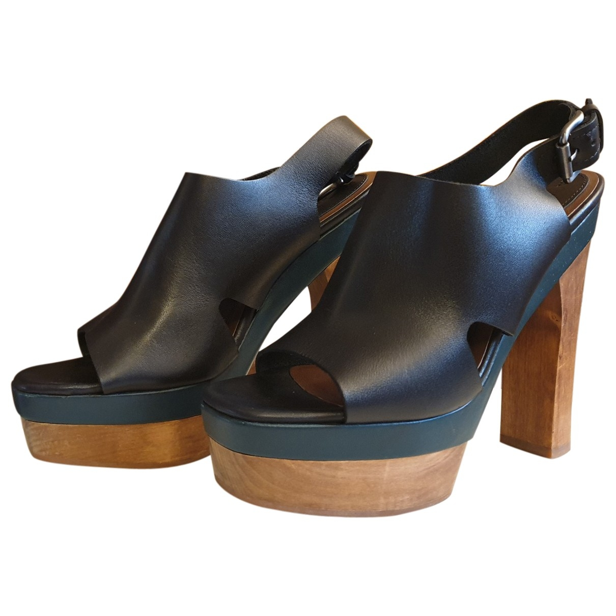 Marni For H&m \N Black Leather Mules & Clogs for Women 36 EU