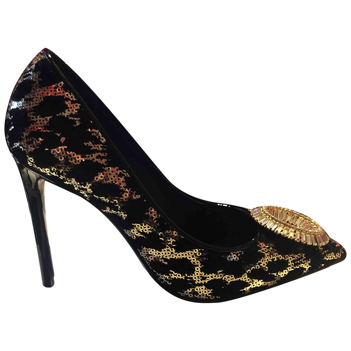 Gedebe \N Black Glitter Heels for Women 37 IT