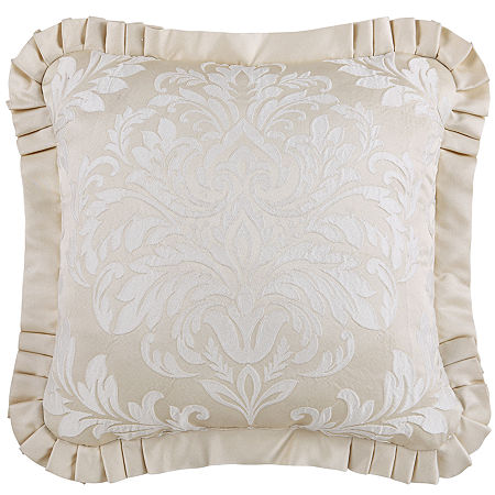 Queen Street Square Throw Pillow, One Size , White