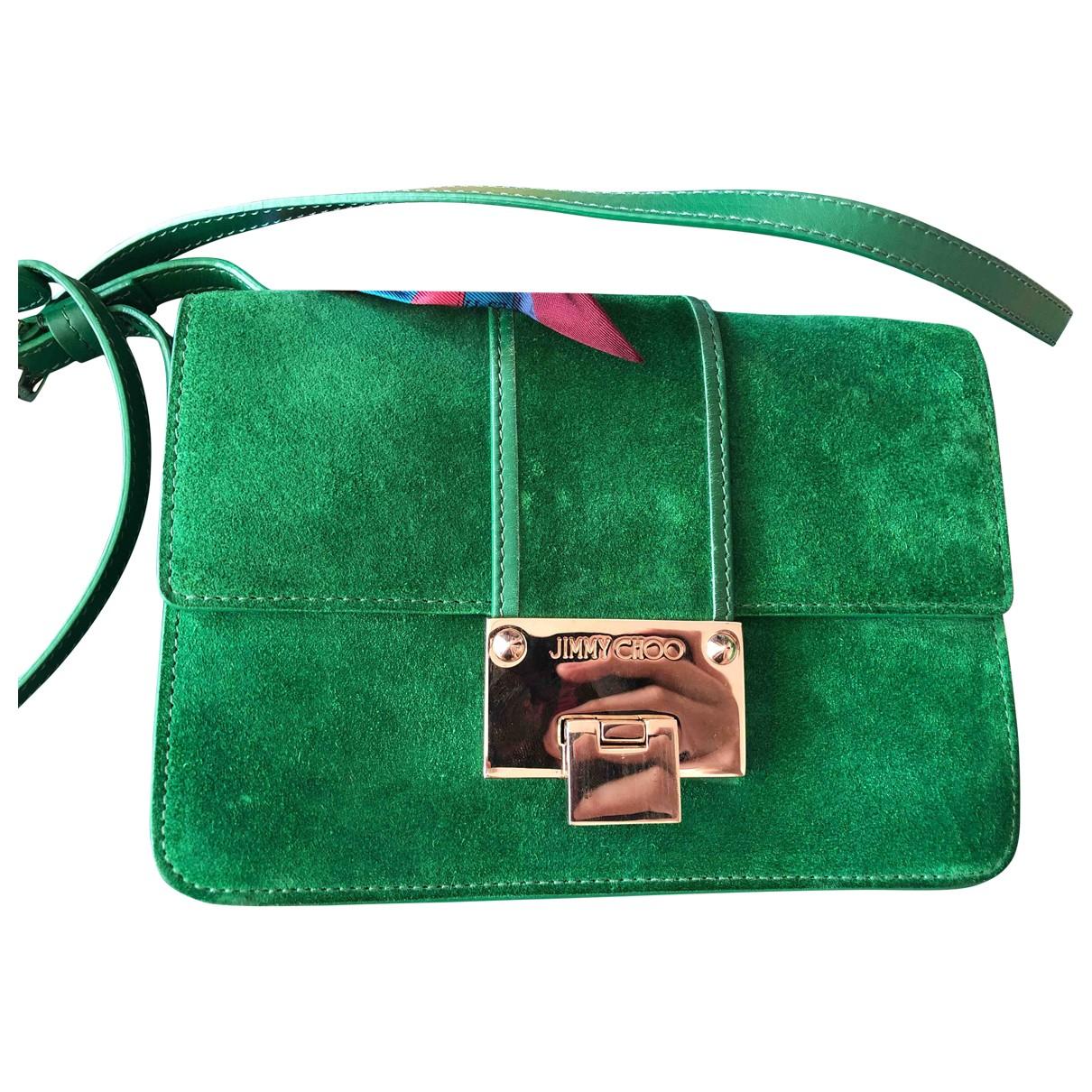 Jimmy Choo Rebel Green Suede handbag for Women \N