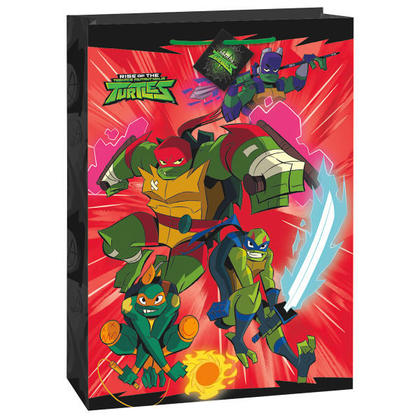 Rise of the TMNT Jumbo Gift Bag, 1Pc For Birthday Party