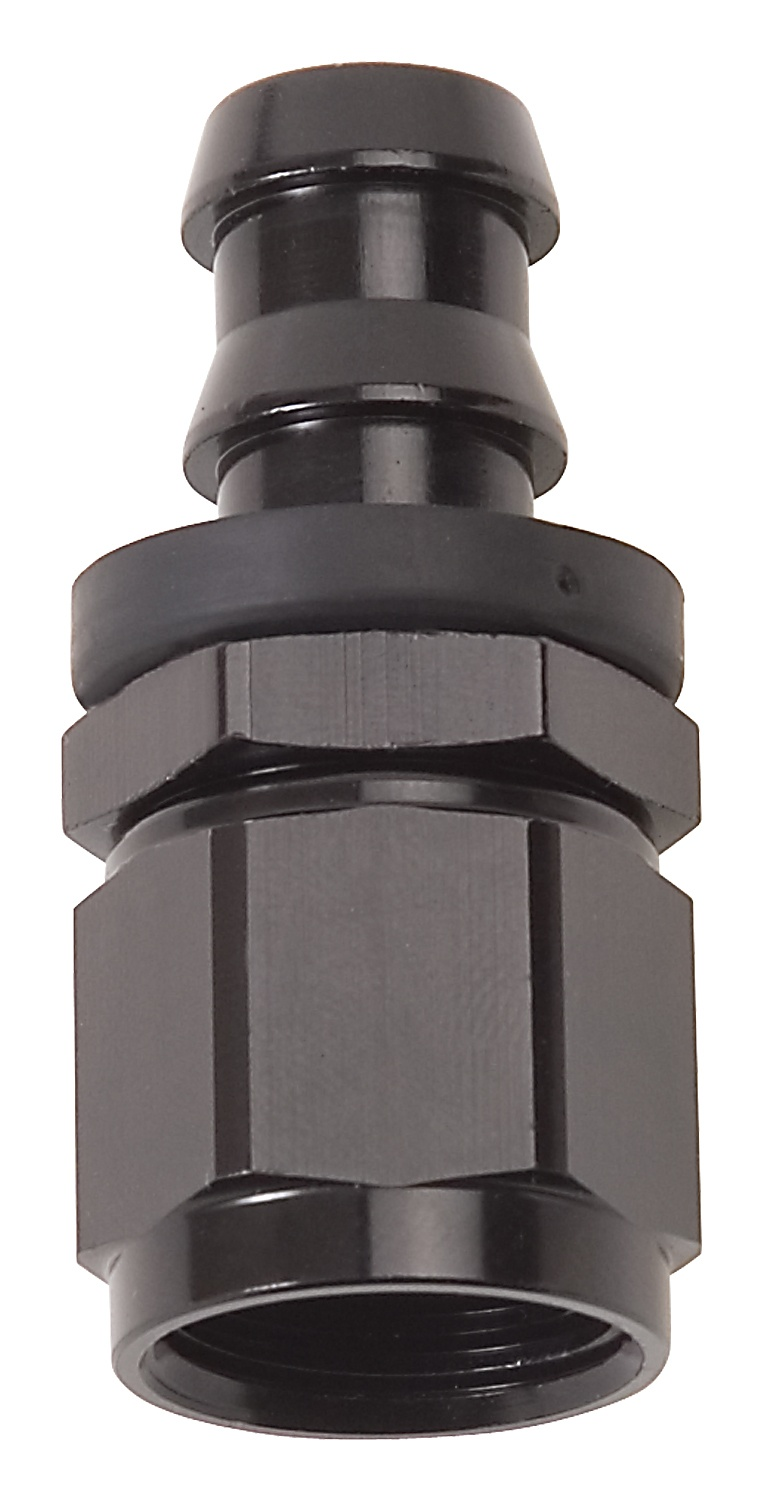 Russell HOSE END TWIST LOK STRAIGHT-4 BLK ANODIZED