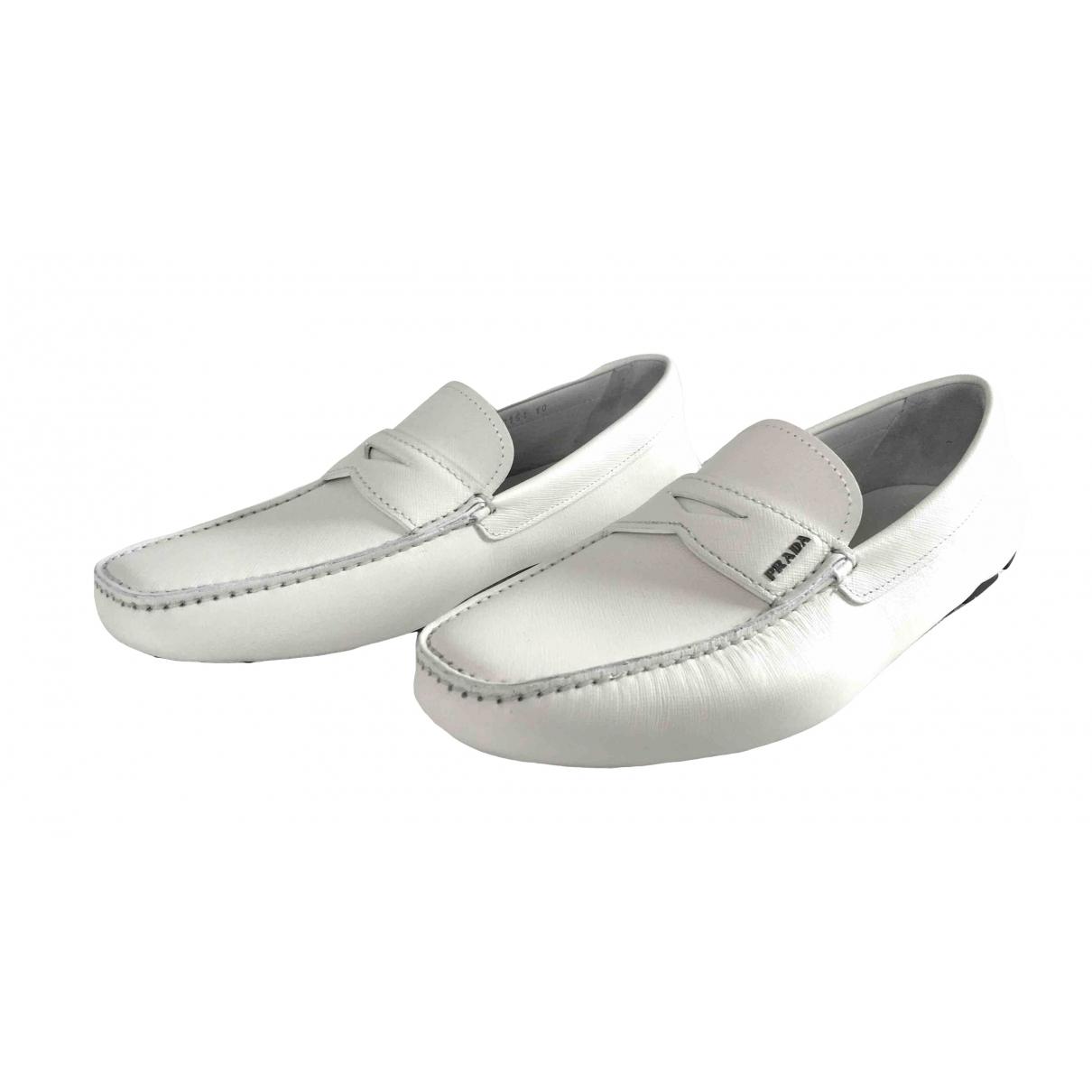 Prada \N White Leather Flats for Men 10 UK