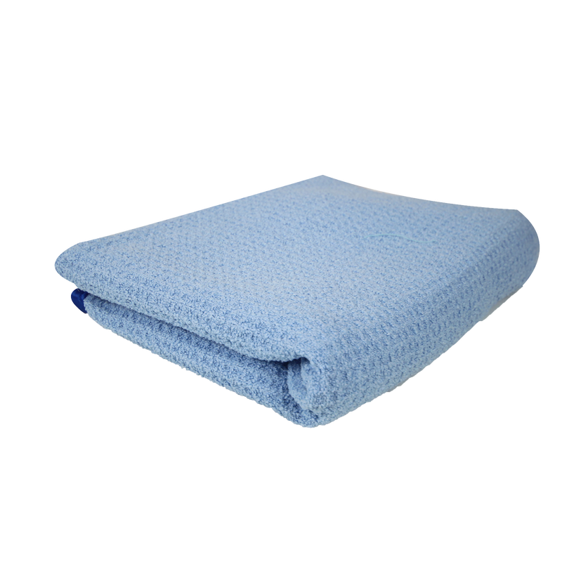 Waffle Weave Drying Microfiber Towel For Car Wash Blue - Chemical Guys