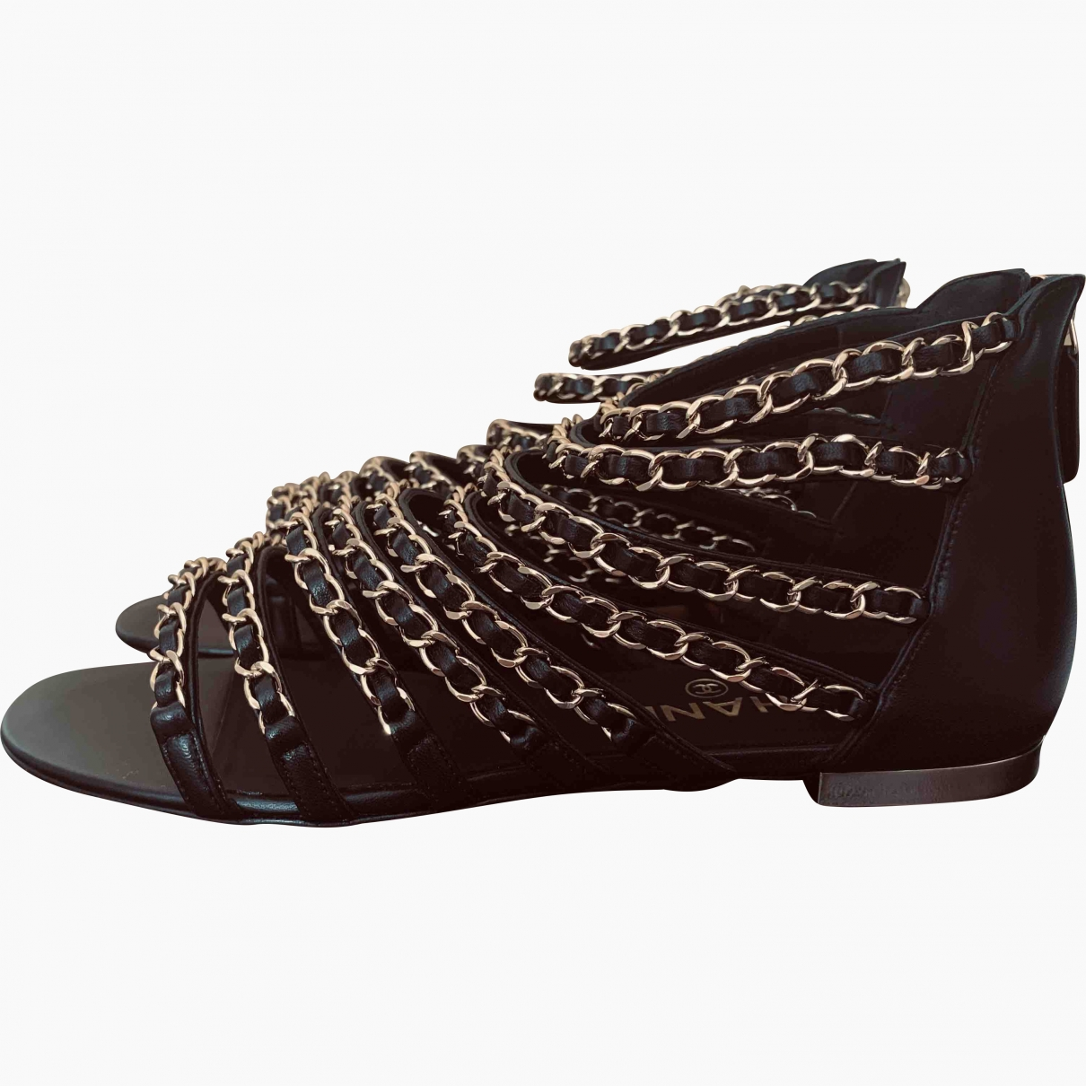 Chanel \N Black Leather Sandals for Women 36 EU