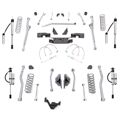 Rubicon Express 3.5 Extreme-Duty Long Arm Kit with Monotube Reservoir Shocks - JKR443MR