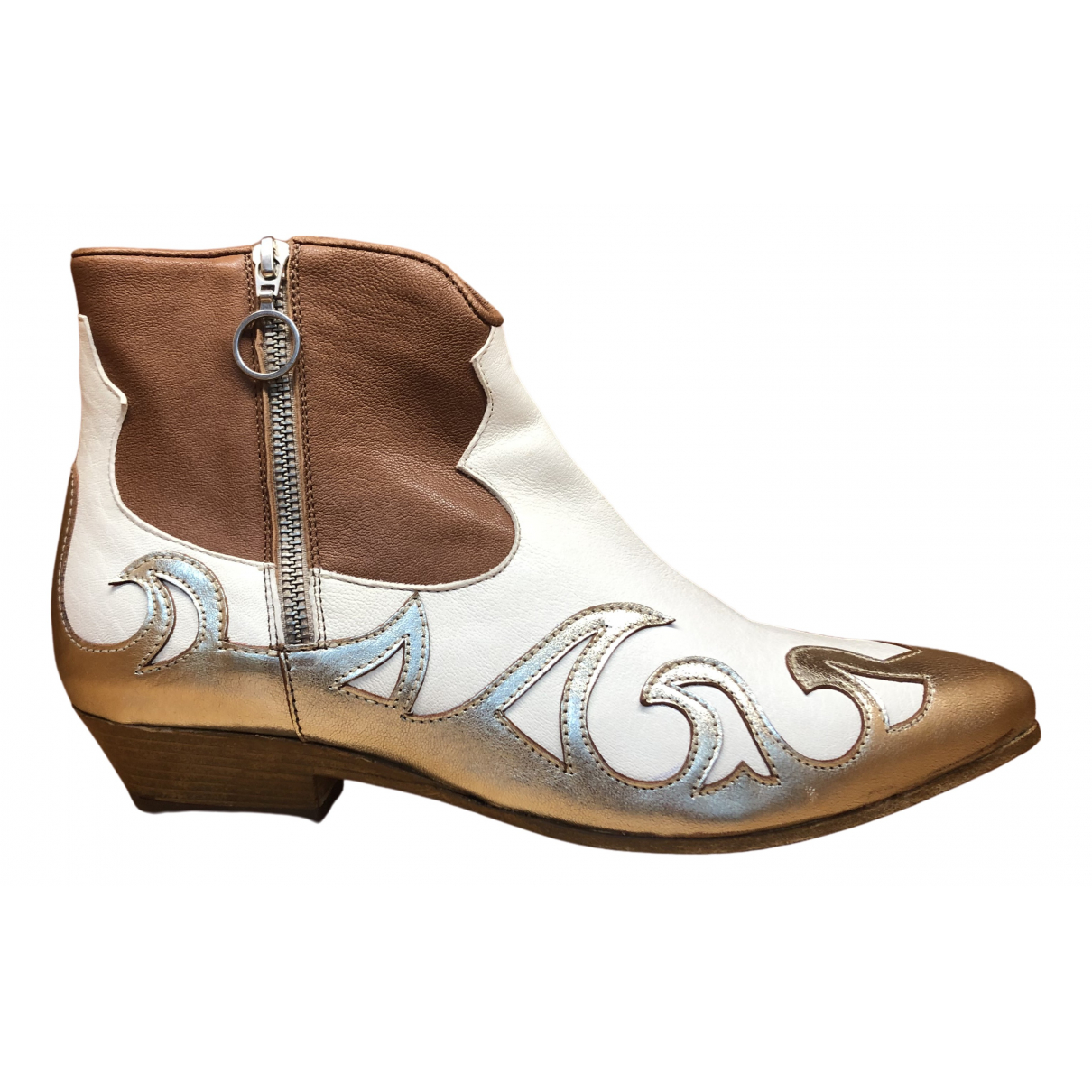 Non Signé / Unsigned \N Multicolour Leather Ankle boots for Women 41 EU