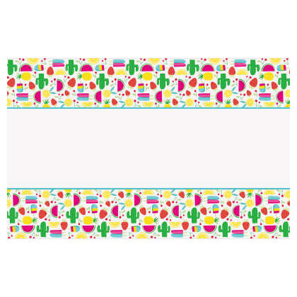Sweet & Succulent Rectangular Plastic Table Cover, 54