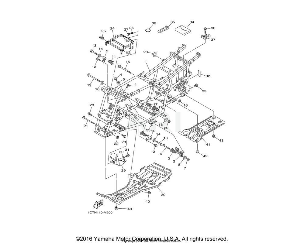 Yamaha OEM 1CT-F2825-00-00 PROTECTOR 1