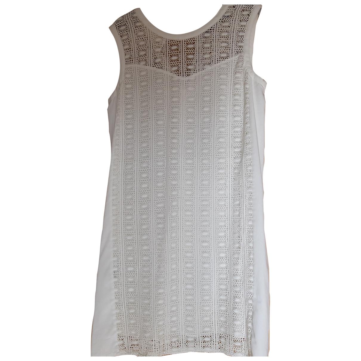 Comptoir Des Cotonniers \N White Cotton dress for Women 38 FR