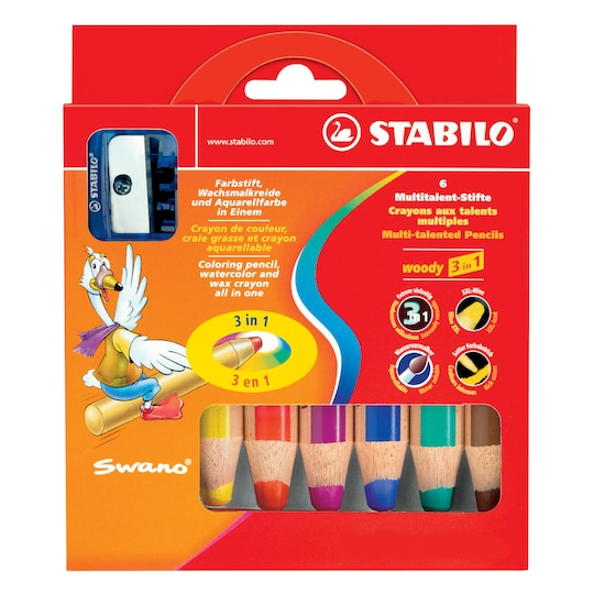Stabilo Woody 3-In-1 Set, 6 Colors | Michaels®