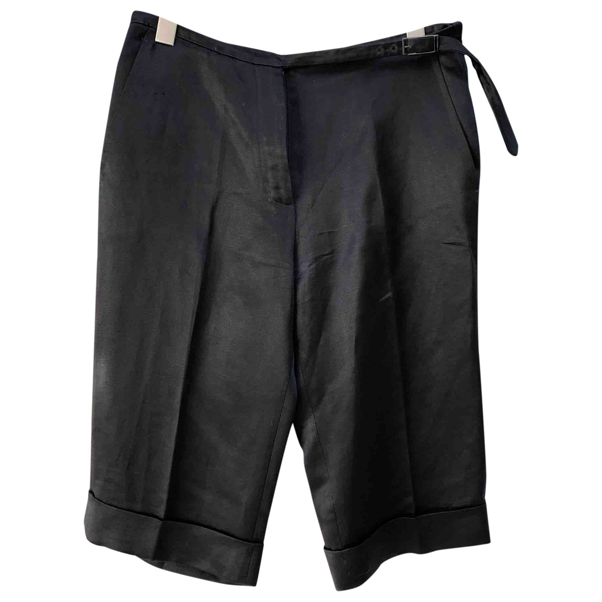 Hermès \N Black Silk Shorts for Women 36 FR