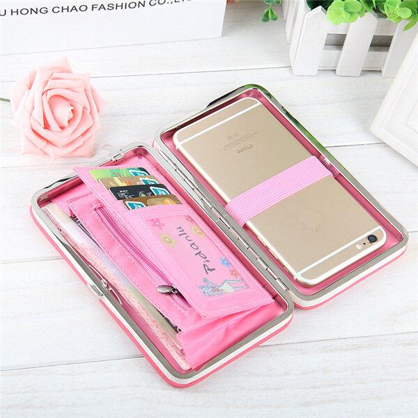 Women Bowknot Universal 5.5 Inch Phone Bag Wallet PU Phone Case For Iphone,Xiaomi,Samsung,Sony,Huawe