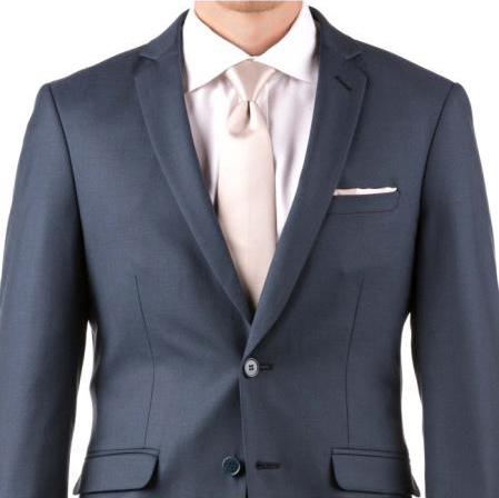 Slim Fit Notch Lapel Groom & Groomsmen Wedding Suits & Tuxedo