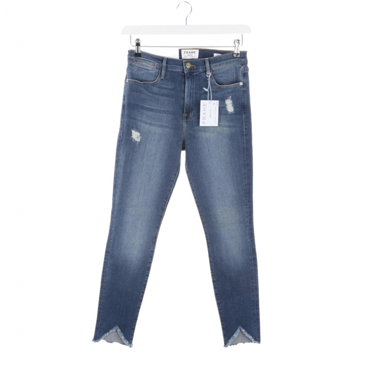 Autre Marque \N Blue Cotton - elasthane Jeans for Women 31 US