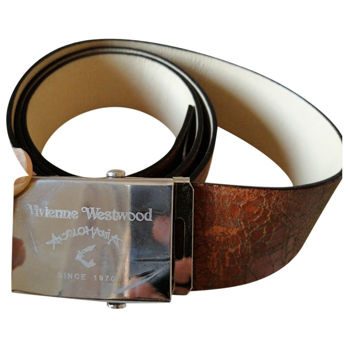 Vivienne Westwood Anglomania \N Brown Leather belt for Women S International
