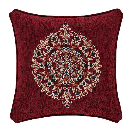 Queen Street Tamera 18x18 Square Throw Pillow, One Size , Red