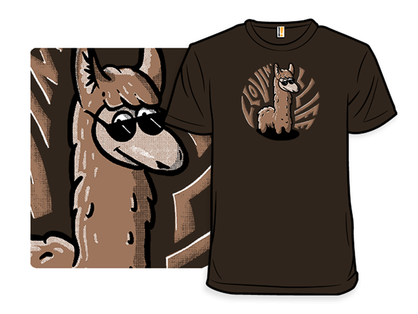 Llama Llovin Life T Shirt