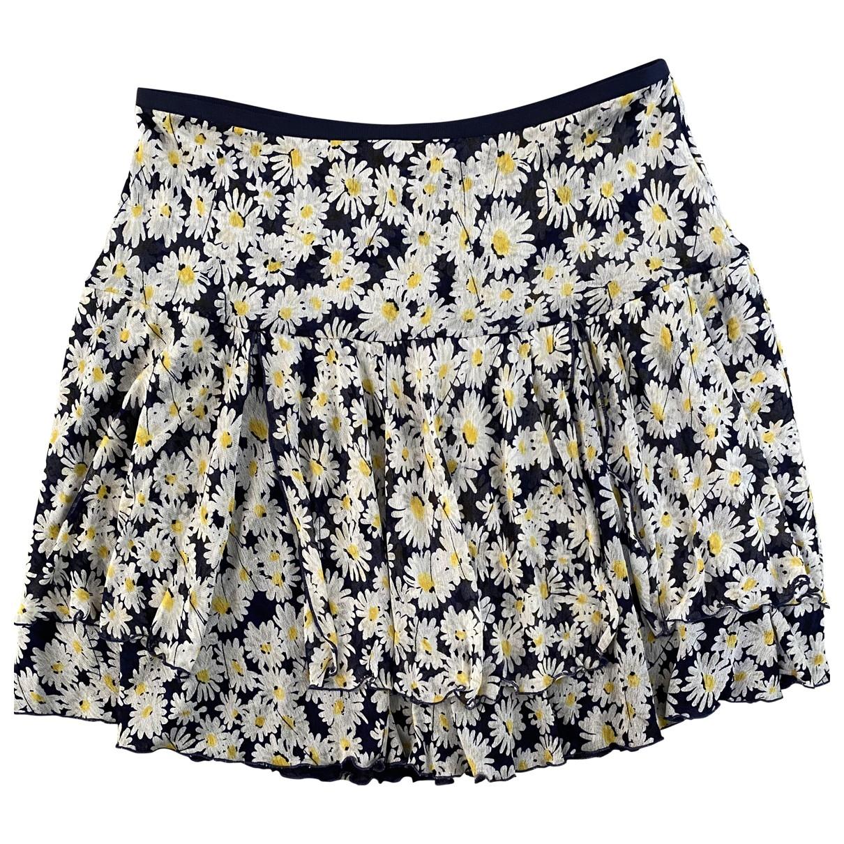 Diane Von Furstenberg \N Blue Silk skirt for Women 40 FR