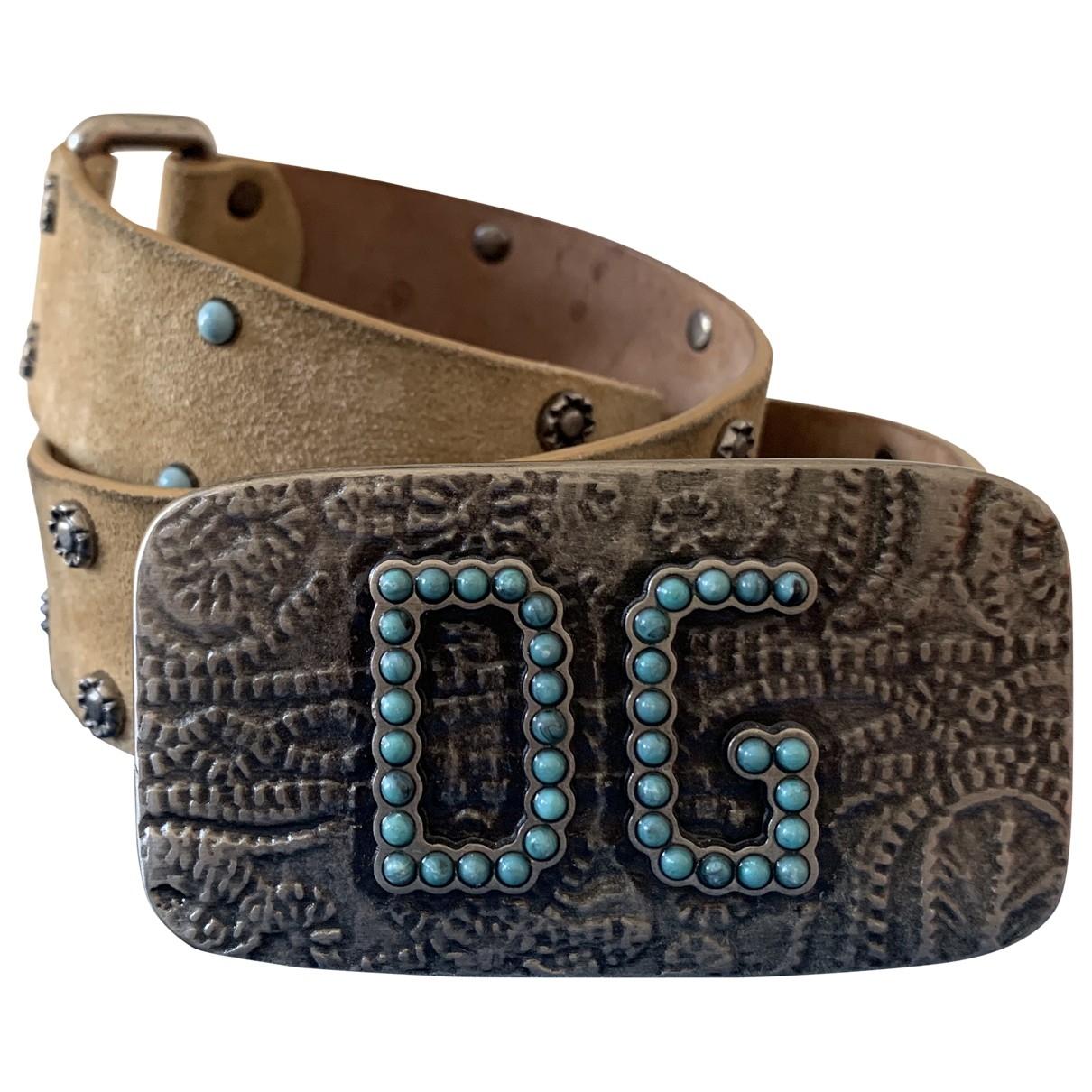 Dolce & Gabbana \N Beige Suede belt for Women 85 cm