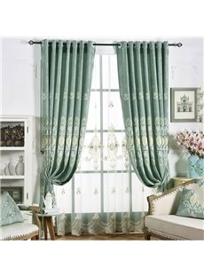 Fashionable and Fresh Style Smooth Delicate Texture Embroidered Custom Sheer Curtains